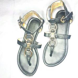 Marc Fisher thong style sandal Croc print SZ 6